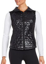 Betsey Johnson Quilted Heart Puffer Vest