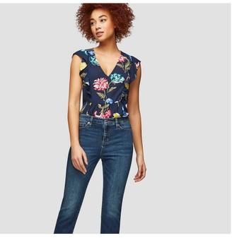 Joe Fresh Women's High Rise Slim Jean, Dark Vintage (Size 31)