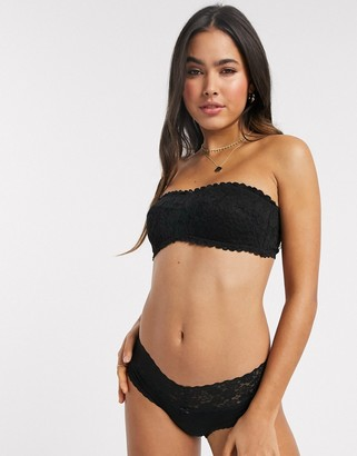 aerie cheeky cotton brief in black