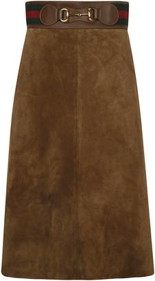 Gucci Back Zip Skirt
