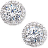 Arabella Swarovski Zirconia Halo Stud Earrings in Sterling Silver, Only at Macy's