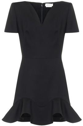 Alexander McQueen Wool-blend minidress