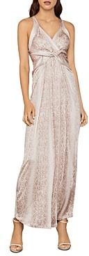 BCBGMAXAZRIA Criss-Cross Snakeskin Print Dress