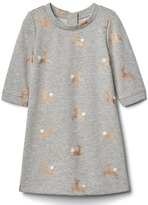 Gap Gold reindeer shift dress