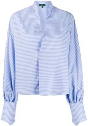 Jejia striped high-collar blouse