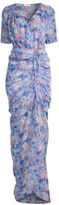 Eywasouls Malibu Elke Ruched Floral Maxi Dress