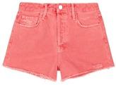 J Brand 'Gracie' high rise distressed denim shorts