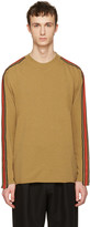 Stella McCartney Tan Cashmere Stripe Sweater