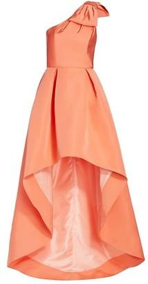 Alexia Maria Blair High-Low Silk Gown