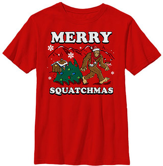 Fifth Sun Boys' Tee Shirts RED - Red 'Merry Squatchmas' Crewneck Tee - Boys