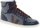 Veja x Domino SPMA Polka Dot Blue High Top Sneakers