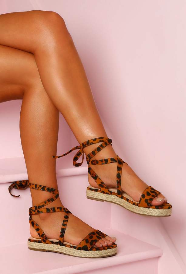 37768754b Pink Leopard Print Shoes - ShopStyle UK