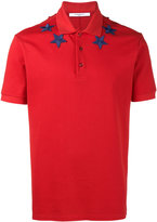 Givenchy star applique polo shirt