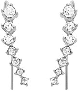 Sterling Forever Sterling Silver Prong Set CZ Graduated Ear Crawlers