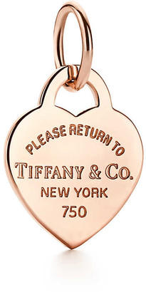 Tiffany & Co. Return to TiffanyTM heart tag charm in 18k rose gold, small