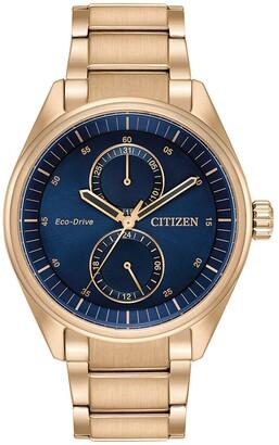 Citizen Men's Paradex Blue Dial Rose Watch, 43mm