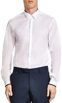 The Kooples Contrast Trim Poplin Slim Fit Button-Down Shirt