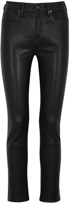 Citizens of Humanity Harlow black slim-leg leather trousers