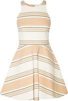 Elizabeth and James Magdalena striped cady mini dress