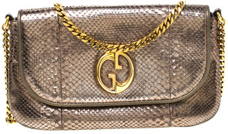 Gucci Metallic Python Leather 1973 Chain Shoulder Bag