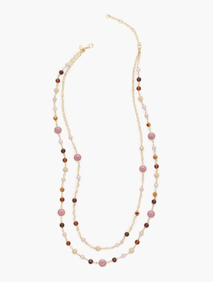 Talbots Pave Double Necklace