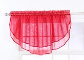 Style Master Stylemaster Elegance Voile Layered Ascot Valance, 60 by 24-Inch, Ruby
