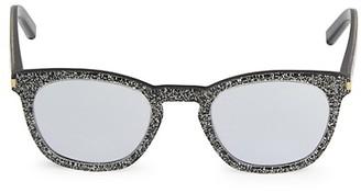 Saint Laurent Core 49MM Glitter Square Sunglasses