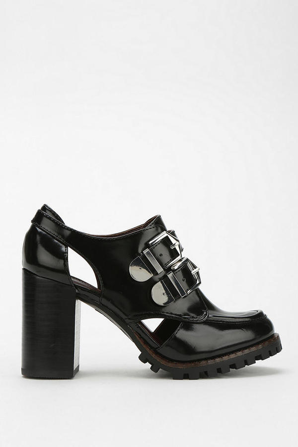 Azzaro Report Double-Buckle Heeled Oxford