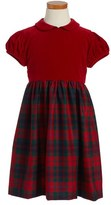 Oscar de la Renta Girl's Plaid Party Dress