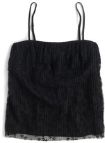 J.Crew Petite Women's Pleated Lace Camisole