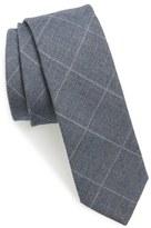 BOSS Check Wool & Silk Skinny Tie