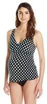 Prego Maternity Women's Polkadot Posh Tankini Swimsuit