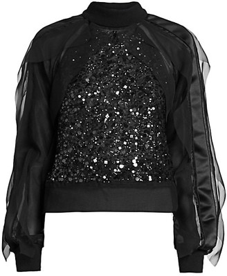 Sacai Sequin-Embroidered Top