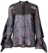Petar Petrov Evan metallic shirt