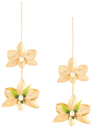 Mercedes Salazar Floral Drop Earrings