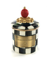 Mackenzie Childs Courtly Check Mini Enamel Canister
