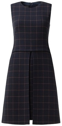 Akris Sleeveless Plaid Wool Crepe Dress