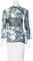 Just Cavalli Sheer Printed Blouse w/ Tags