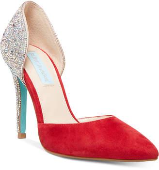 Betsey Johnson Blue by Yara Embellished Evening Shoes Women Shoes