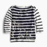 J.Crew Splatter-paint striped T-shirt