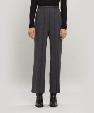 Acne Studios Patsyne Check Wool-Blend Suit Trousers