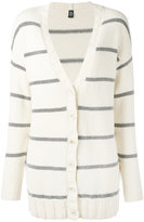 Eleventy striped cardigan - women - Cotton/Polyamide - M