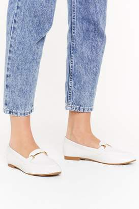 Nasty Gal Womens Get A Loaf Of These Faux Leather Loafers - White - 3