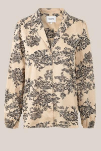 Second Female - Summer Printed Organic Cotton Picnic LS Shirt - XS