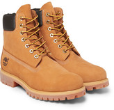 Timberland Premium Waterproof Leather-trimmed Nubuck Boots - Tan