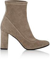 Barneys New York Women's Block-Heel Suede Ankle Boots-Grey, Nude