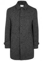 Oliver Spencer Grandpa's Charcoal Wool Coat