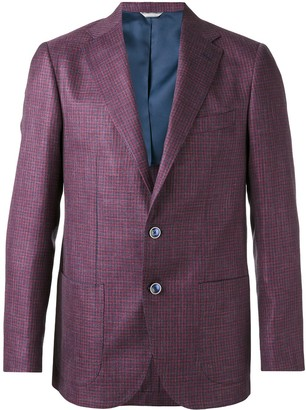Fashion Clinic Timeless Houndstooth Pattern Blazer