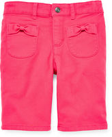 Arizona Bow Pocket Bermuda Shorts - Girls 4-6x