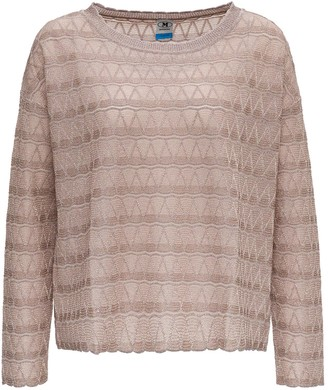 M Missoni Glitter Embroidered Top